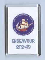 NASA Space Shuttle Endeavour Mission STS-49 Fridge Magnet